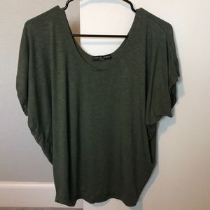 Green Kim & Cami Short Sleeve Blouse (M)
